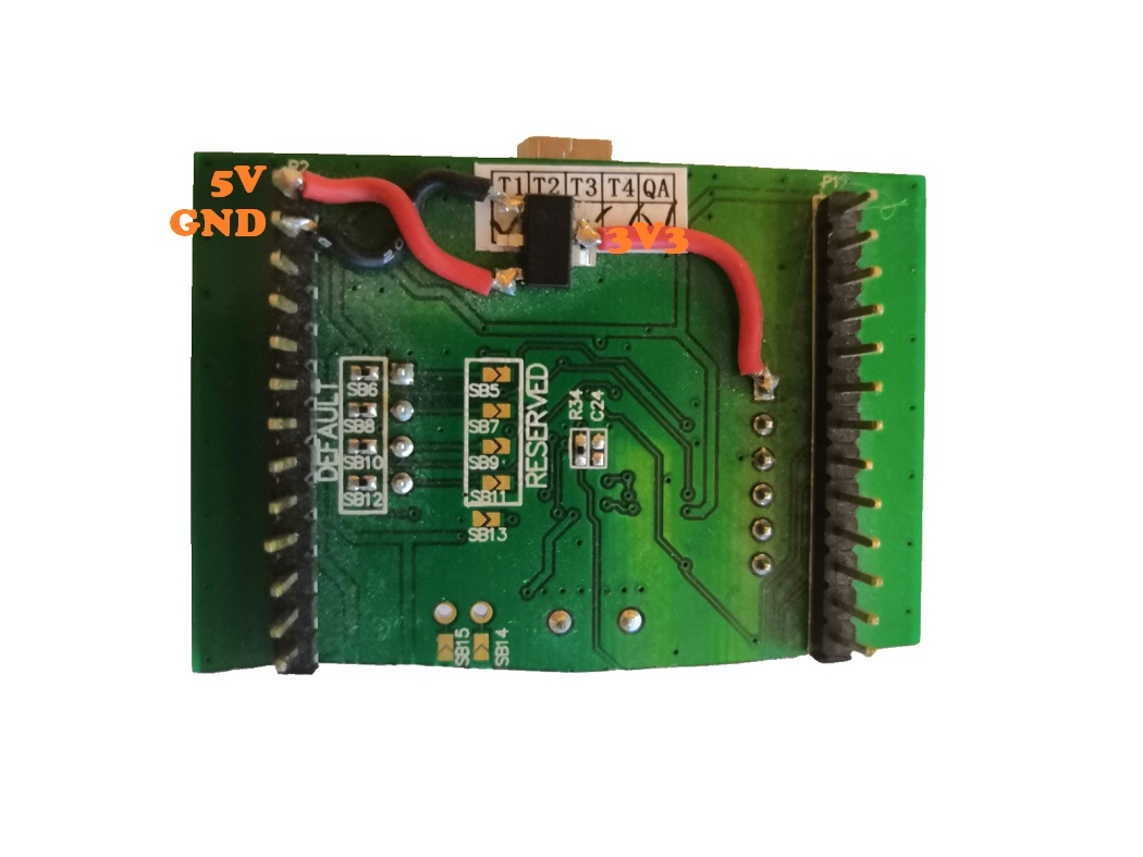 stm32f0discovery SWD AIN_1