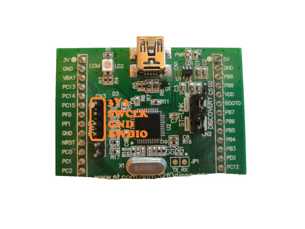 stm32f0discovery SWD