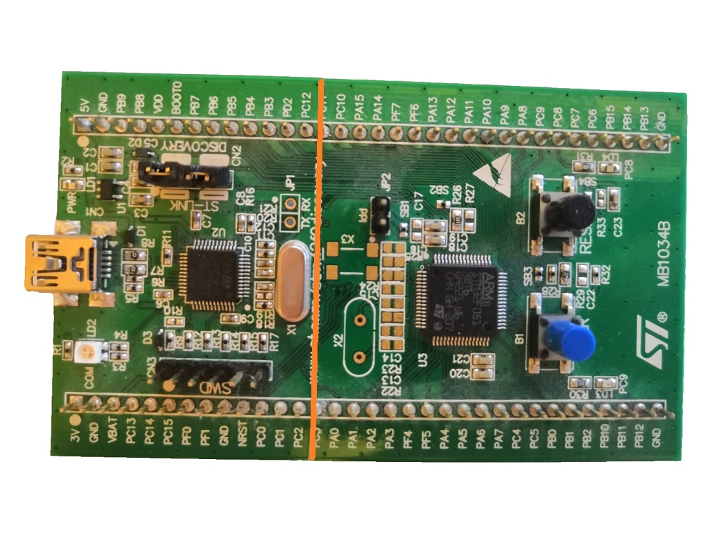 stm32f0discovery cut