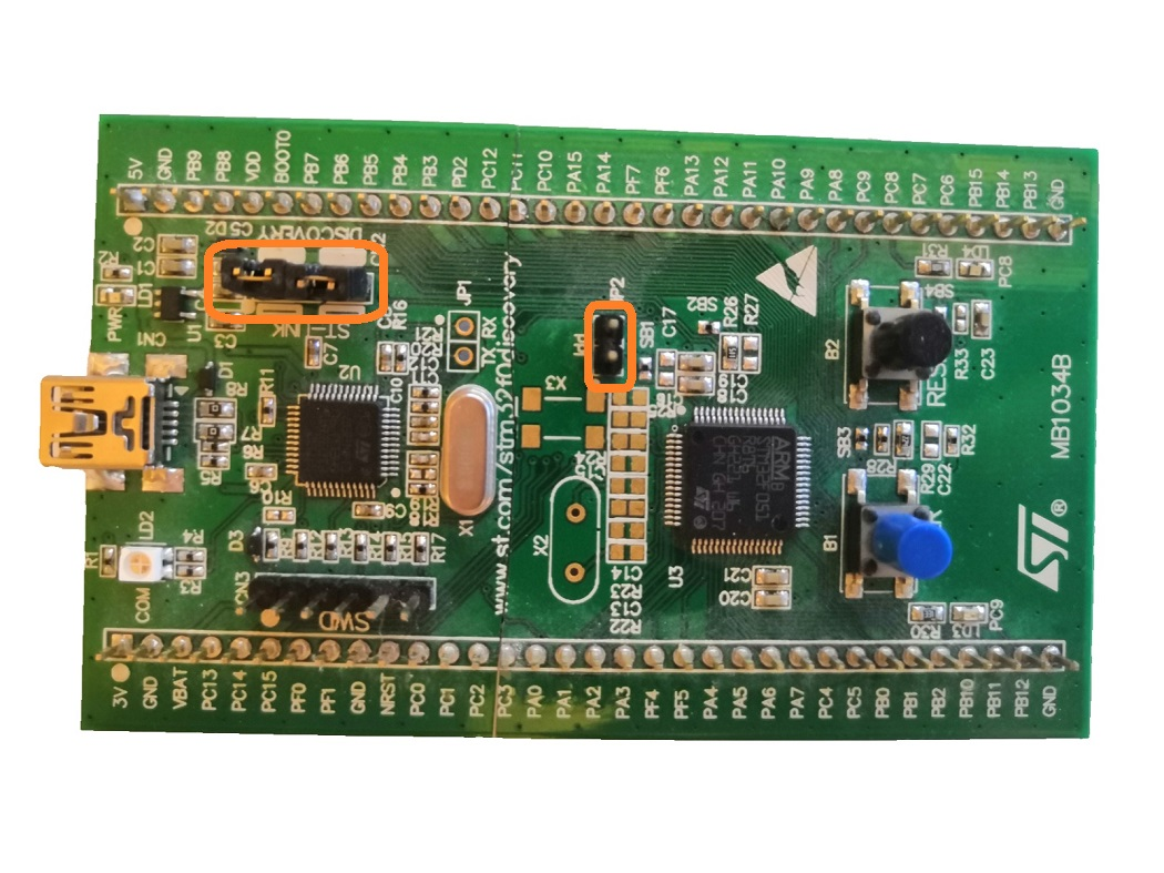 stm32f0discovery jumpers